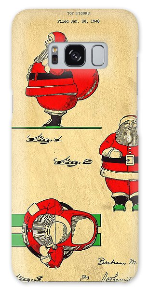 Holiday Galaxy Case - Original Patent For Santa On Skis Figure by Edward Fielding