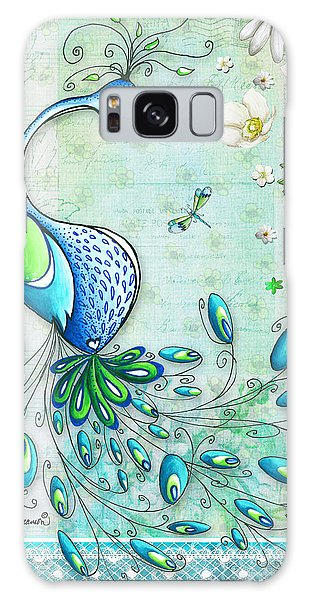Peacock Galaxy Case - Original Peacock Painting Bird Art By Megan Duncanson by Megan Duncanson