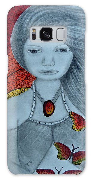 Original Pencil Drawing Art The Wind Of The Spirit 2 By Saribelle Rodriguez Galaxy Case