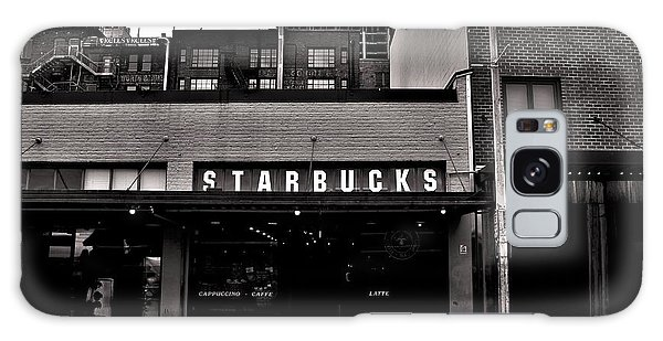 Original Starbucks Black And White Galaxy Case