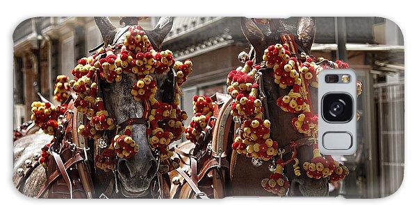 Ornamented Horses Galaxy Case