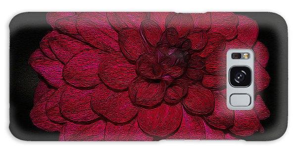 Ornate Red Dahlia Galaxy Case