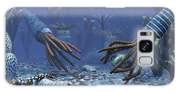 Sea Lily Galaxy Case - Orthoceratites And Trilobites by Walter Myers/science Photo Library