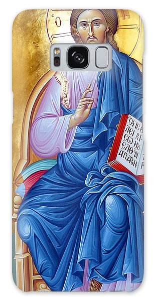 Orthodox Icon Of Jesus In Blue Galaxy Case