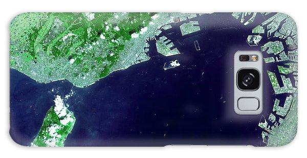 Kansai Galaxy Case - Osaka Bay by Nasa/gsfc/meti/japan Space Systems And U.s./japan Aster Science Team