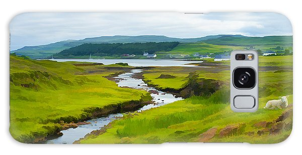 Osdale River Leading Into Loch Dunvegan In Scotland Galaxy Case