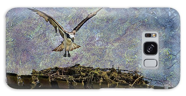 Galaxy Case featuring the photograph Osprey-coming Home by Belinda Greb