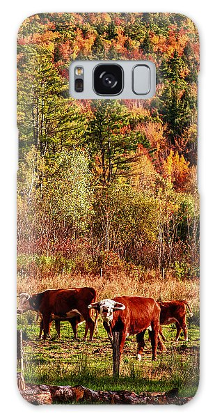 Cow Complaining About Much Galaxy Case by Jeff Folger