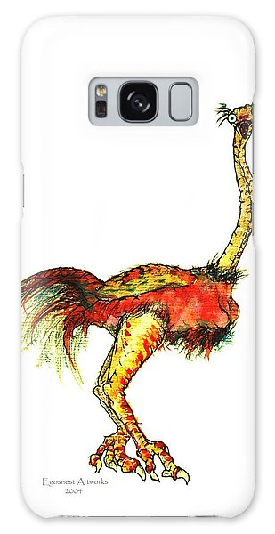 Ostrich Card No Wording Galaxy Case