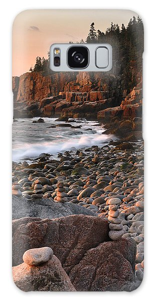 Otter Cliffs Morning Galaxy Case