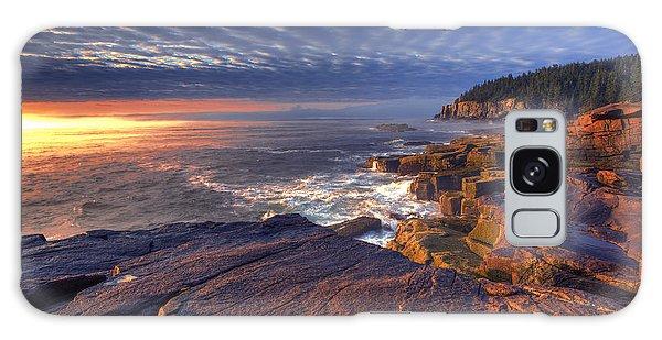 Otter Rock Galaxy Case - Otter Cove Sunrise by Marco Crupi
