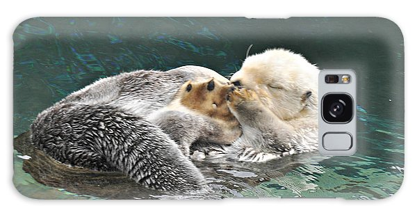 Otter Dreams Galaxy Case by Mindy Bench