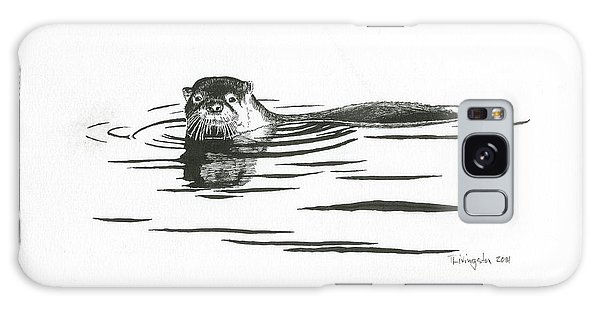 Otter In The Water Galaxy Case