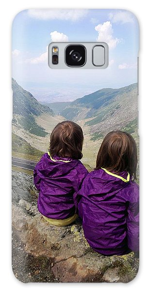 Our Daughters Admiring The View Galaxy Case