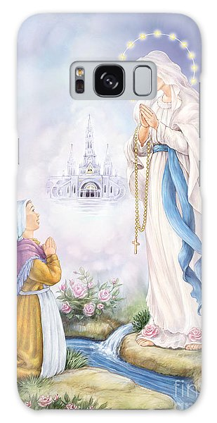 Our Lady Of Lourdes Galaxy Case