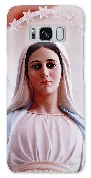 Our Lady Queen Of Peace Statue Galaxy Case by Susan Duda