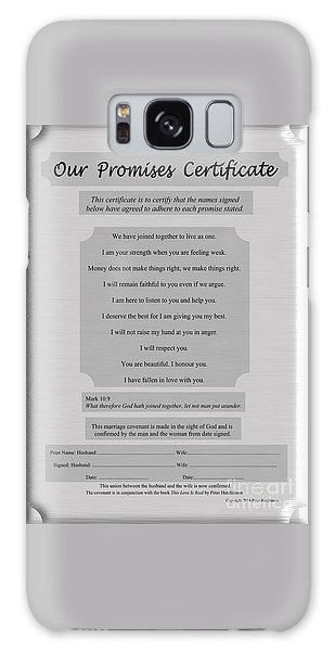 Our Promises Certificate Galaxy Case