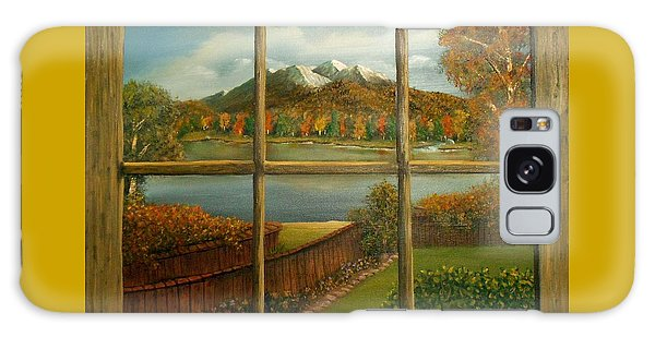 Out My Window-autumn Day Galaxy Case by Sheri Keith