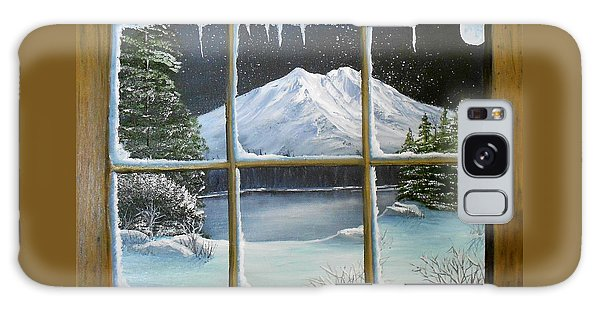 Out My Window-bright Winter's Night Galaxy Case by Sheri Keith