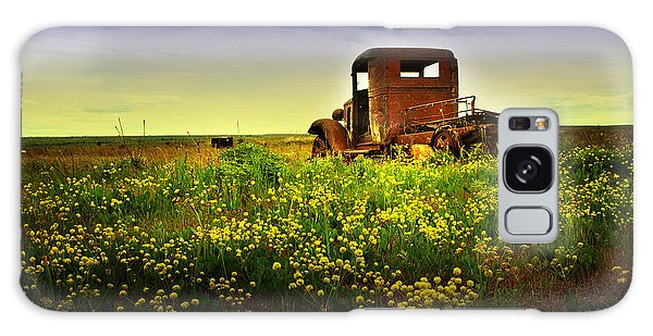 Out To Pasture Galaxy Case by Sonya Lang