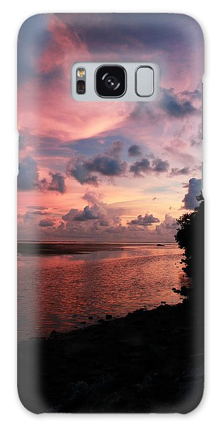 Out With A Roar Sunset Over Water Tarpon Springs Florida Galaxy Case