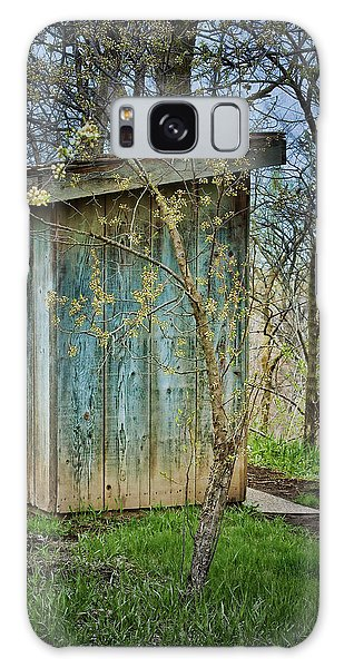 Nebraska Galaxy Case - Outhouse In Spring by Nikolyn McDonald