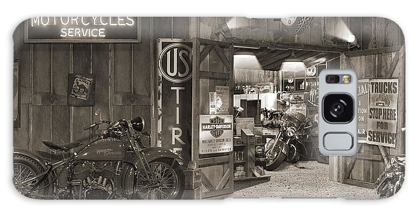Indian Head Galaxy Case - Outside The Old Motorcycle Shop - Spia by Mike McGlothlen