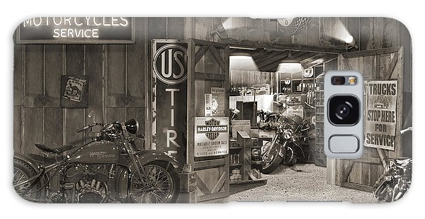 Outside The Old Motorcycle Shop - Spia Galaxy Case by Mike McGlothlen