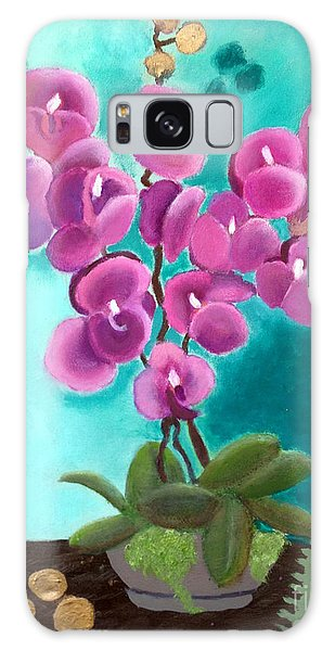 Outstanding Orchids Galaxy Case by Margaret Harmon
