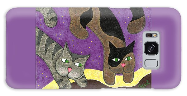 Over Cover Cats Galaxy Case