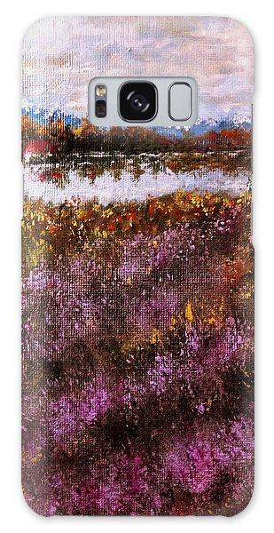 Over The Lavender Field.. Galaxy Case