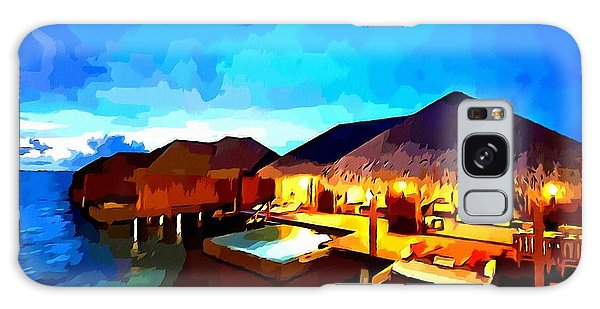 Over Water Bungalows Galaxy Case
