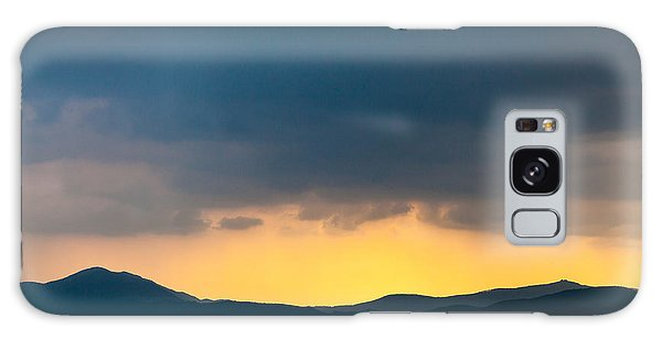 Overcast Dark Sky Rain Clouds With Yellow Glow Beyond Hills On H Galaxy Case