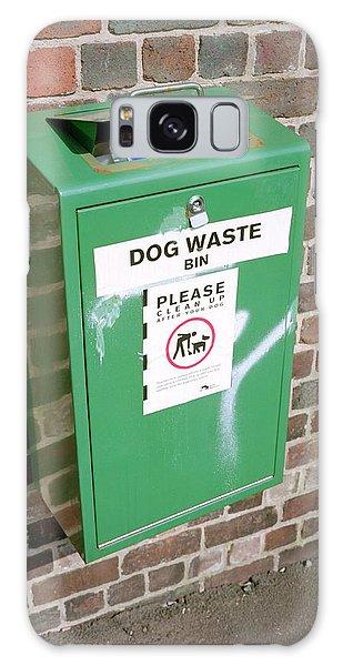 Rubbish Bin Galaxy Case - Overflowing Dog Waste Bin by Robert Brook/science Photo Library