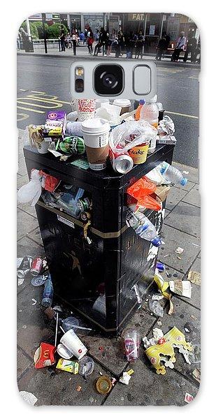 Rubbish Bin Galaxy Case - Overflowing Litter Bin by Martin Bond/science Photo Library