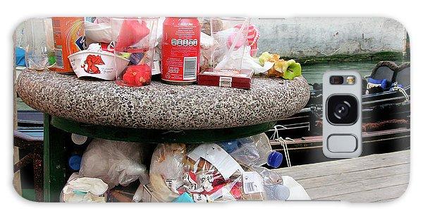 Rubbish Bin Galaxy Case - Overflowing Litter Bin by Tony Craddock/science Photo Library