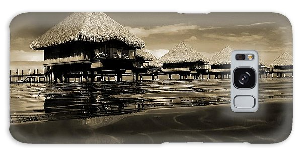 Overwater Bungalows  Galaxy Case by Zinvolle Art