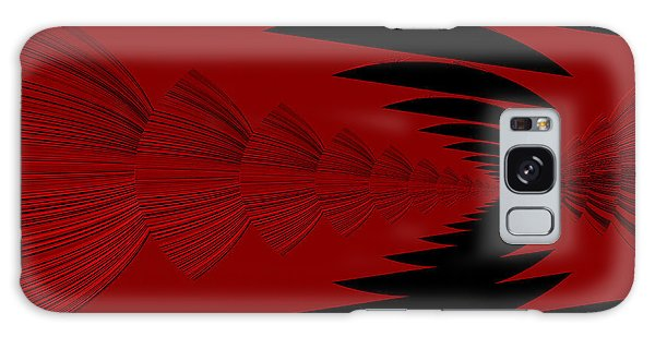 Red And Black Design Galaxy Case