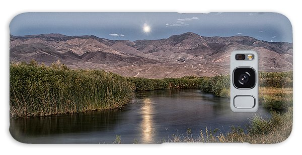Owens River Moonrise Galaxy Case