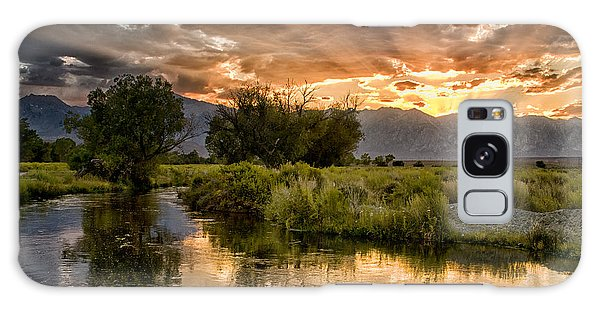 Owens River Sunset Galaxy Case