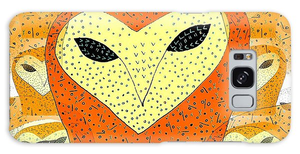 owl Galaxy Case by Barbara Moignard