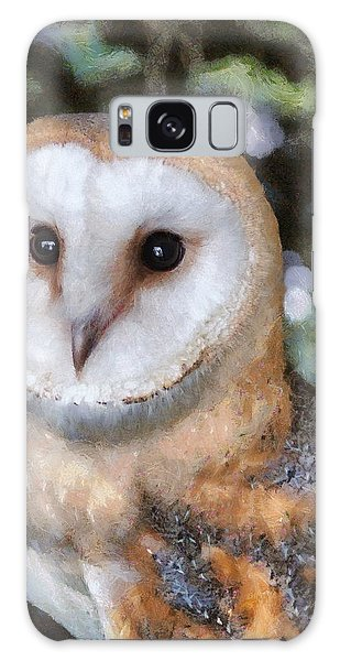 Galaxy Case featuring the digital art Owl - Bright Eyes 2 by Paul Gulliver
