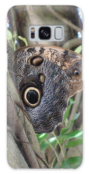 Owl Butterfly In Hiding Galaxy Case
