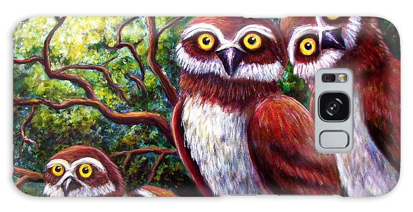 Owl Family Galaxy Case