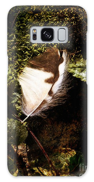 Owl Feather On Natures Canvas Galaxy Case