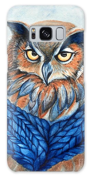 Owl In A Cowl Galaxy Case