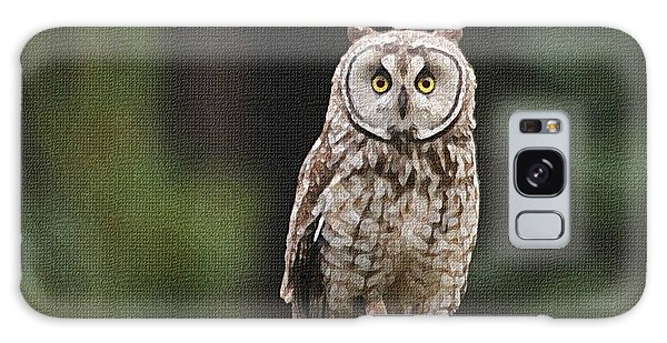 Owl In The Forest Visits Galaxy Case by Tom Janca
