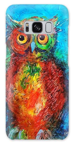 Owl In The Night Galaxy Case