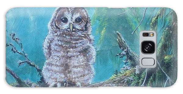 Owl In The Woods Galaxy Case