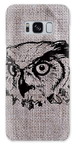 Owl On Burlap Galaxy Case